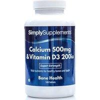 Calcium 500mg Vitamin D3 200iu (120 Tablets)