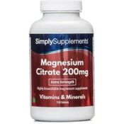 Magnesium Citrate 200mg (120 Tablets)