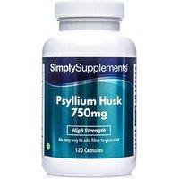 Psyllium Husk 750mg (120 Capsules)