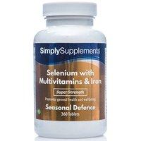 Selenium 220mcg Multivitamins Iron (360 Tablets)