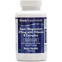 Super Magnesium 375mg Vitamin B Complex (120 Tablets)