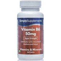Vitamin B6 50mg (360 Tablets)